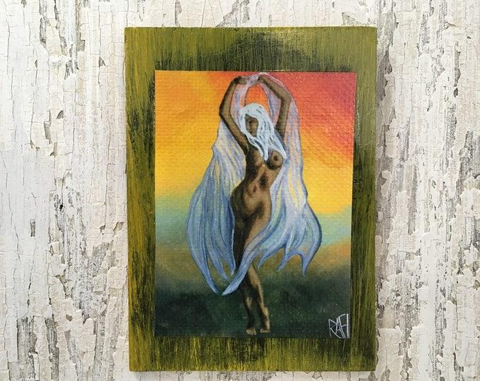 Reaching For More Wall Art by artist Rafi Perez Original Artist Enhanced Print On Wood