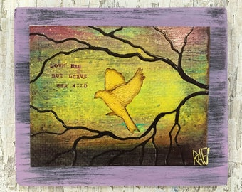 Leave Her Wild Wall Art by artist Rafi Perez Original Artist Enhanced Print On Wood