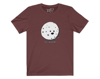Da Moon Unisex Jersey Short Sleeve Tee Design By Rafi