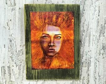Ignited Wall Art by artist Rafi Perez Original Artist Enhanced Print On Wood