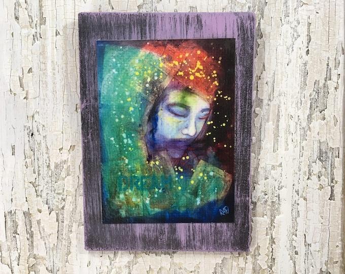 What's In A Dream Wall Art by artist Rafi Perez Original Artist Enhanced Print On Wood