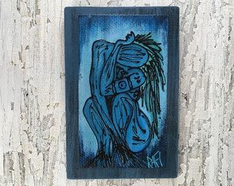 Water Elemental Wall Art by artist Rafi Perez Original Artist Enhanced Print On Wood