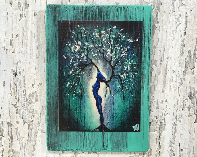 Nature Of Being Tree Wall Art by artist Rafi Perez Original Artist Enhanced Print On Wood