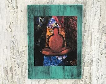 Geometry Of The Mind Meditation Wall Art by artist Rafi Perez Original Artist Enhanced Print On Wood