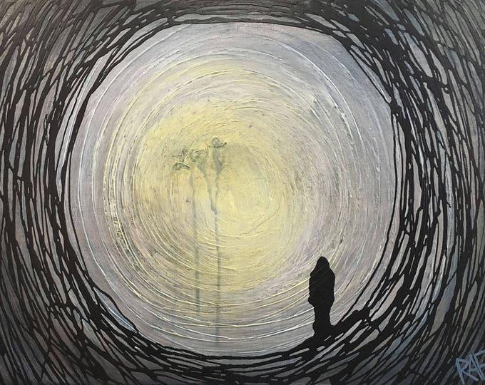 Love Tunnel Original Painting Wall Art by artist Rafi Perez on Canvas 18X24