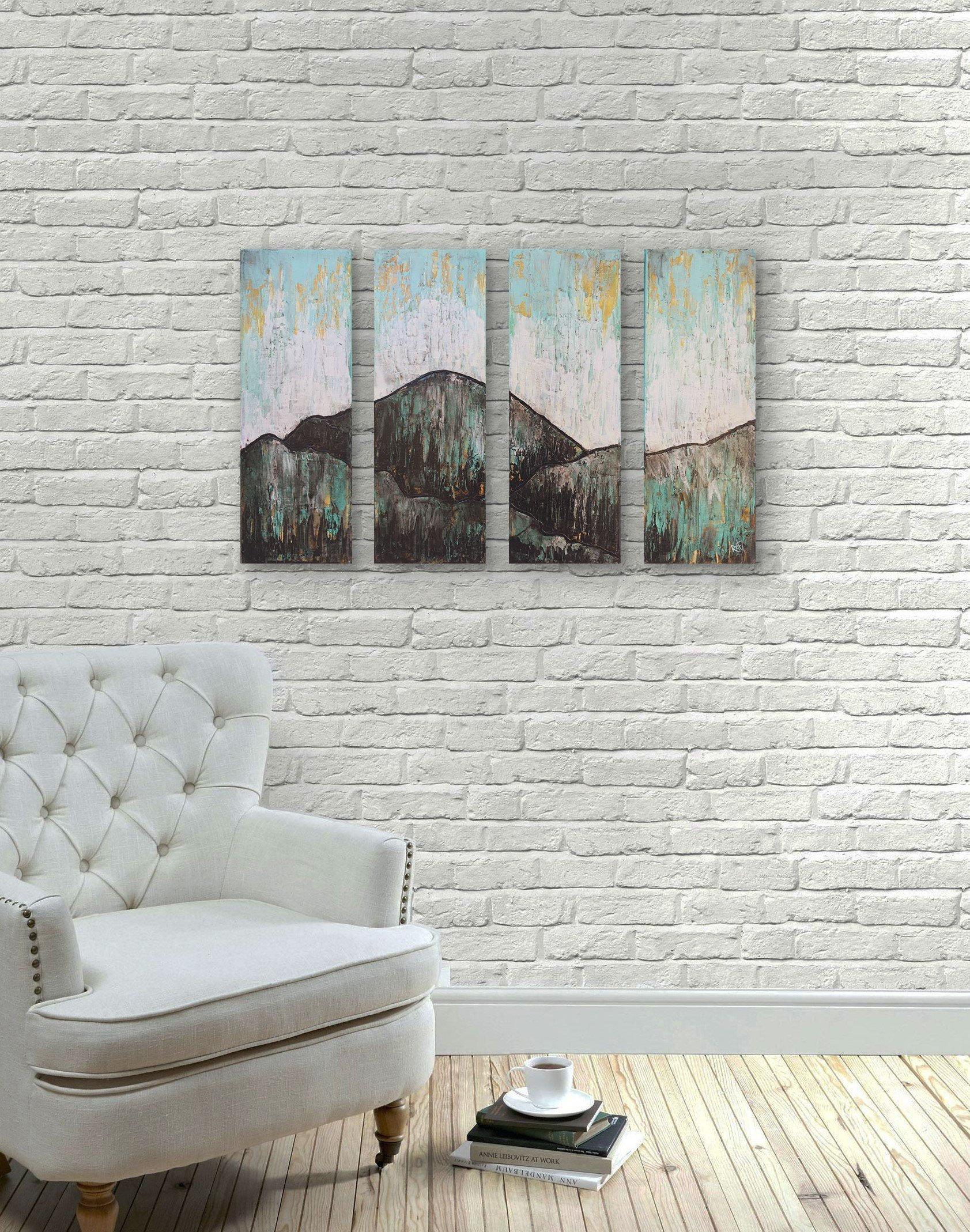 0ce0028e8 Glow Mountain Textured Original Painting By Artist Rafi Perez Mixed ...