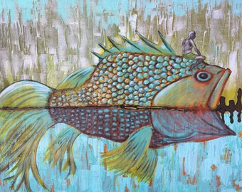 Return To Simplicity Original Painting by Artist Rafi Perez Mixed Medium on Canvas 24X36