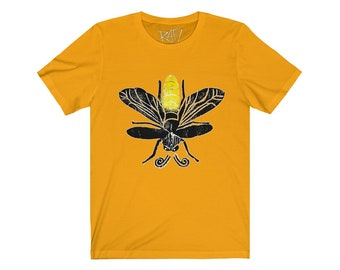 Lightning Bug Be The Glow Unisex Jersey Short Sleeve Tee Design By Rafi