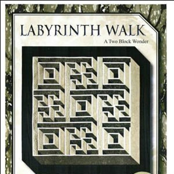 Labyrinth Walk Quilt Pattern Queen Size By The Guilty Quilter Etsy Inspiration Labyrinth Walk Quilt Pattern Free