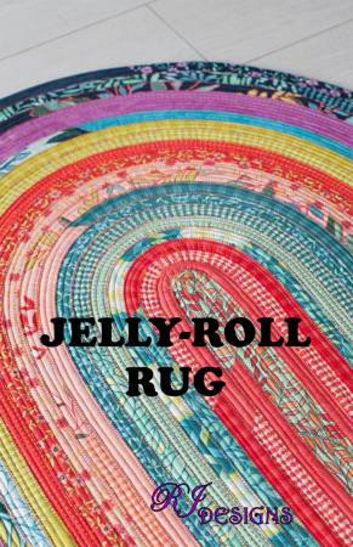 strips Moda Jelly Roll Rug pattern RJ Desogns