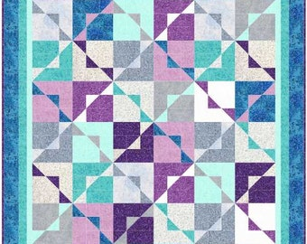 Chip Off the Old Block, Fairy Frost, Throw sized quilt kit