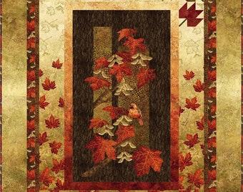 Autumn Spleandor Quilt Kit, Throw size, Northcott, Maplewood fabric