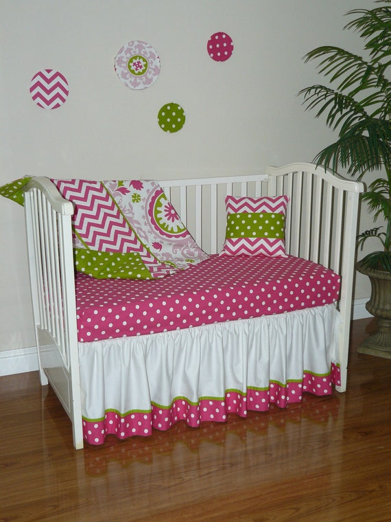 Items similar to Custom Crib Baby Bedding 2pc Set , Hot ...
