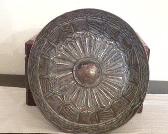Antique Handmade Turkish Copper Bath Bowl