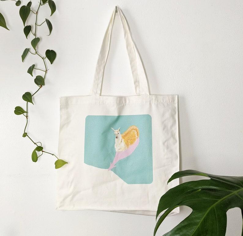 Original design Llama Canvas Tote Bag 100/% cotton
