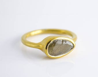 Labradorite Ring, Gemstone Ring, Stacking Ring, Gold Ring, Tear Drop Ring, Bezel set ring, Birthstone ring for her, Christmas gifts  for her