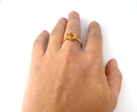 Nathis Garnet Teardrop Cut Prong Set Ring