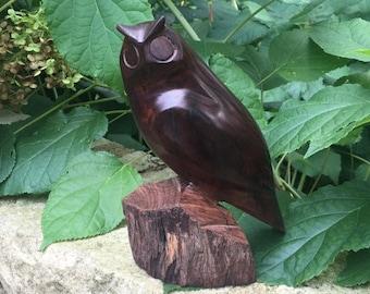 Wooden Owl, Owl Statue, Owls, Retro Owl, Wood Owl Statue, Owl Figurine, Country Decor, Carved Owl, Owls, Owl Decor
