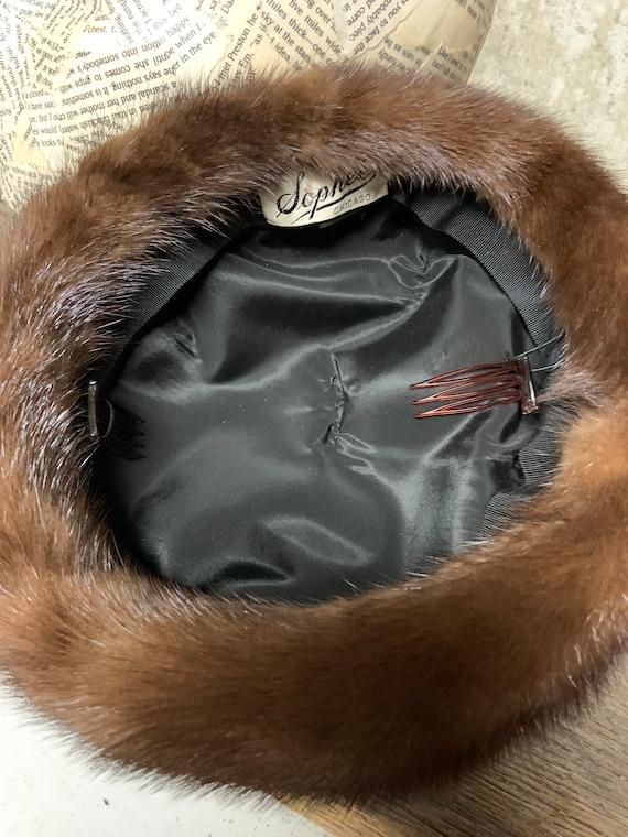 1960s Ladies Fur Hat, Fur hat, vintage Fur Hat, M… - image 8