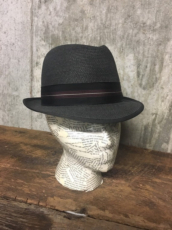 Straw Fedora, Knox New York Hat, Mens Hat, Vintage