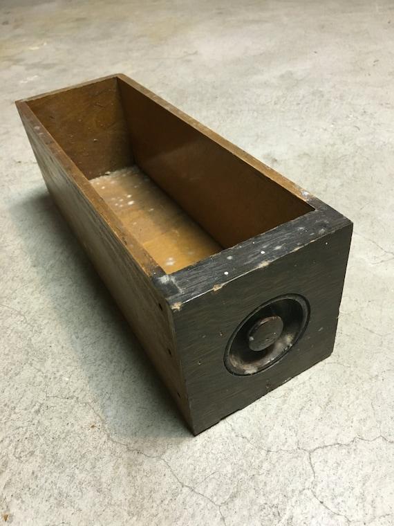Vintage Wood Box Wood Drawer Wooden Tool Box Wood Caddy Etsy