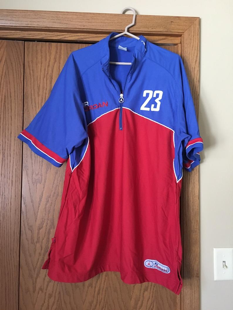 6302de8e0b6 Vintage Air Jordan Shirt Basketball Warm Up Michael Jordan | Etsy