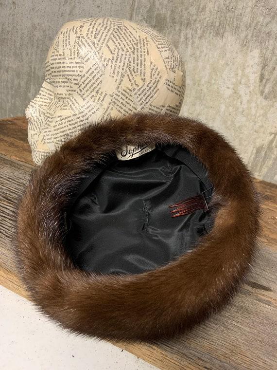 1960s Ladies Fur Hat, Fur hat, vintage Fur Hat, M… - image 3
