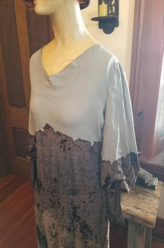 Authentic Art Deco 1920s-30s Velvet Dress with Jul