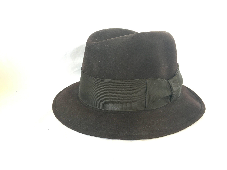8c1fa6e389cd2 01b50 009cc  official store vintage stetson hat fedora hat vintage wool hat  vintage felt etsy 7a720 4e088