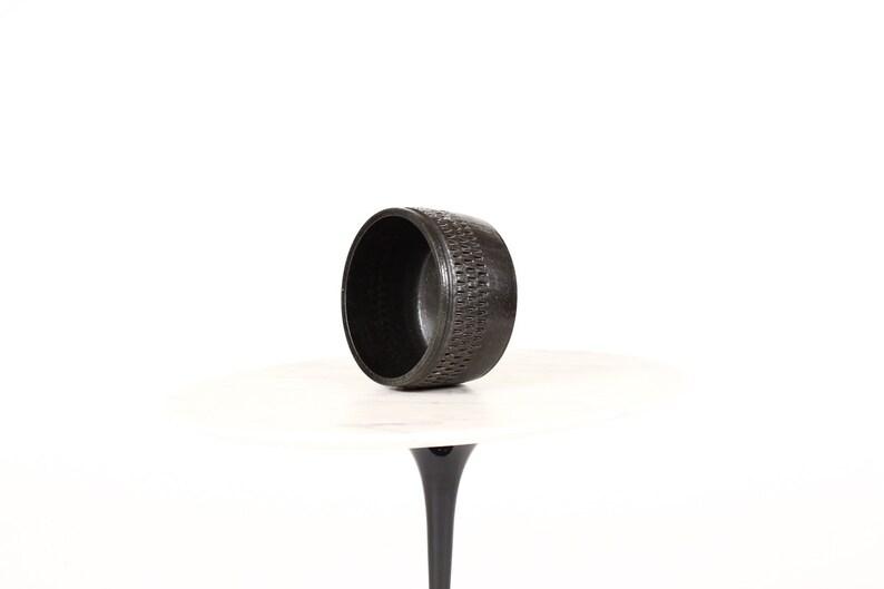 Ceramic Stoneware Planter \u2014 Large Delta pattern \u2014White Glaze \u2014 P49