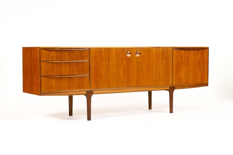 Danish Modern Credenza Sideboard : Danish modern mid century teak credenza sideboard a h etsy