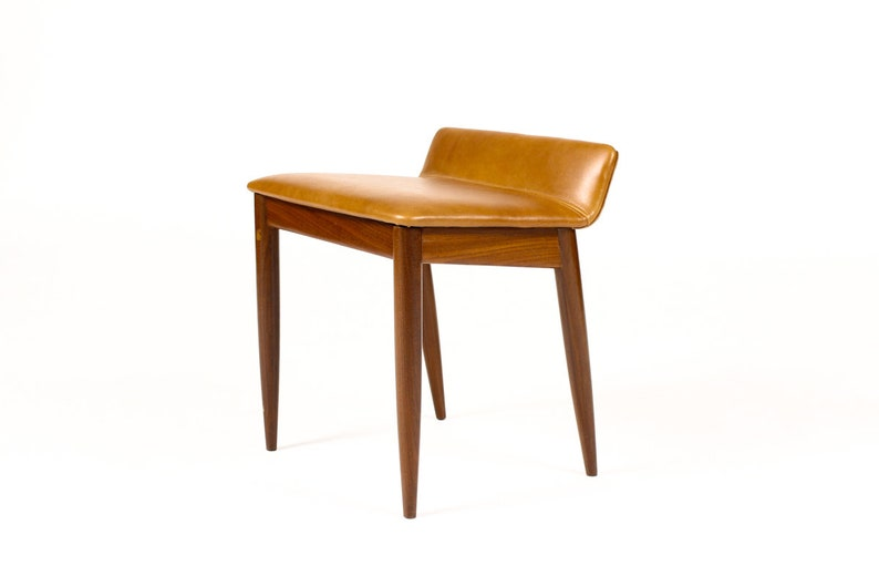 Magnificent Danish Modern Mid Century Mahogany Ottoman Cognac Leather Gamerscity Chair Design For Home Gamerscityorg