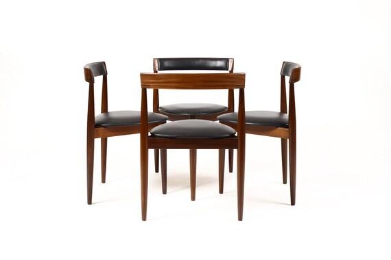 Danish Modern Mid Century African Teak Dining Chair Hans Etsy