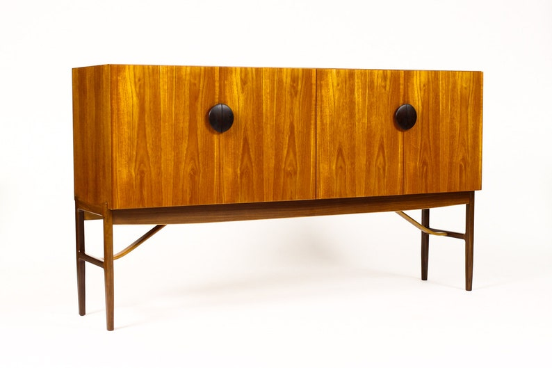 Danish Credenza Los Angeles : Danish modern large teak high board credenza cocktail etsy