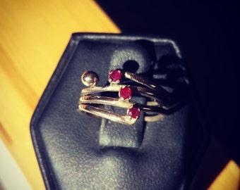 14K Gold Ruby Ring