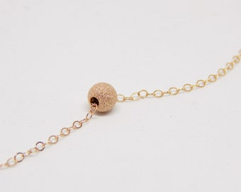 Dainty necklace, Small necklace, Delicate rose gold necklace, Tiny necklace, Stardust dot necklace