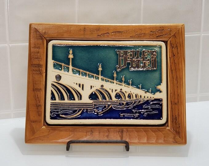 Featured listing image: Framed Pewabic Belle Isle Tile| 1321 Labrosse- Corktown, Detroit