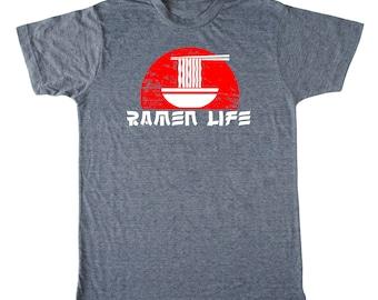 2023d196 Ramen Life Men's shirt, ramen shirt, foodie t-shirt, chef shirt, asian t  shirt, noodle t-shirt, japanese shirt, funny men's shirt, food pun