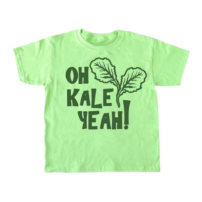 f1091f6d8 Oh Kale Yeah® kid's shirt kid's vegan shirt funny | Etsy