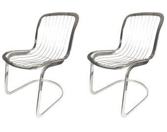1970's Cidue Italian Chrome Chairs