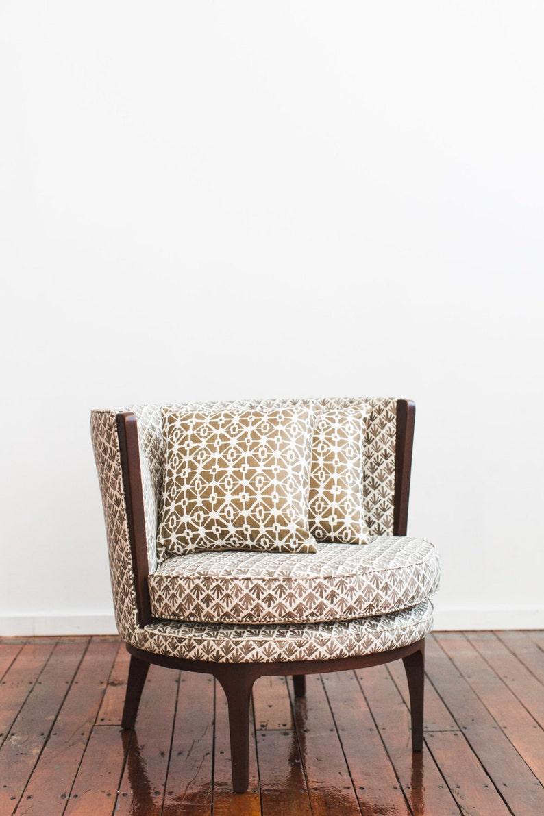 Fun Geometric Throw Pillows Gold Beige 15x15 image 0