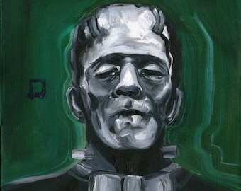 Frankenstein Abstract Painting