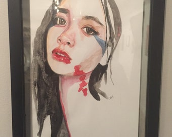 Watercolor Painting - Red Light Beauty