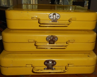 3 Heavy Metal Yellow Cases