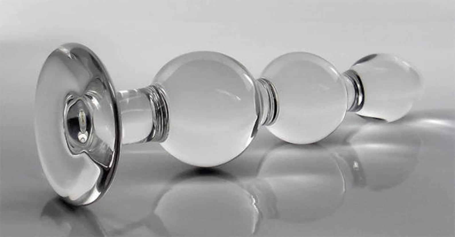 Small torpedo t bar glass butt plug simple pleasures sex toy