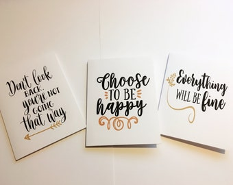 Card, Inspirational cards, Card set, Inspirational card set, encouragement cards, inspirational note, stationary, blank cards