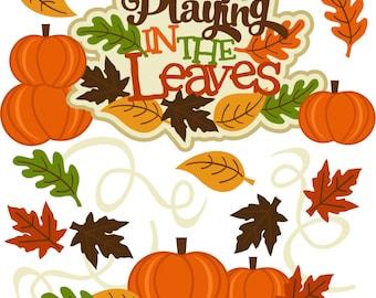 Fall Die Cut, Playing in the leaves, autumn die cuts, leaves die cuts, scrapbook die cuts, scrapbooking die cuts, fall paper piecings, fall