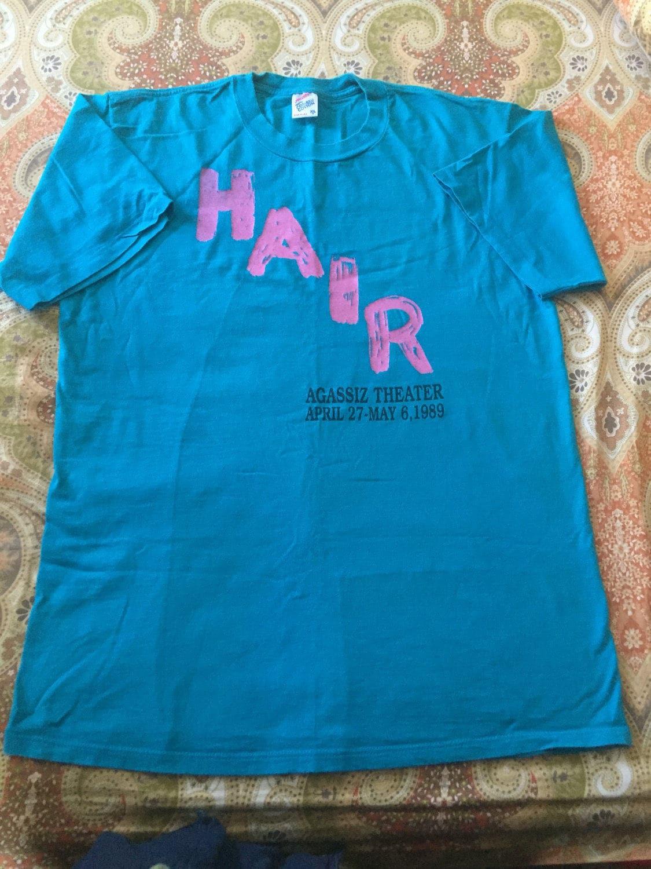 Hair Musical Play Show Tee T Shirt Size Xl Extra Large Aqua Etsy