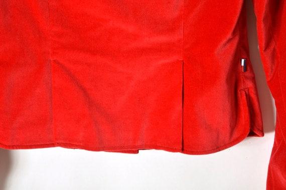 90s Tommy Hilfiger Velvet Blazer Jacket Women's M… - image 7