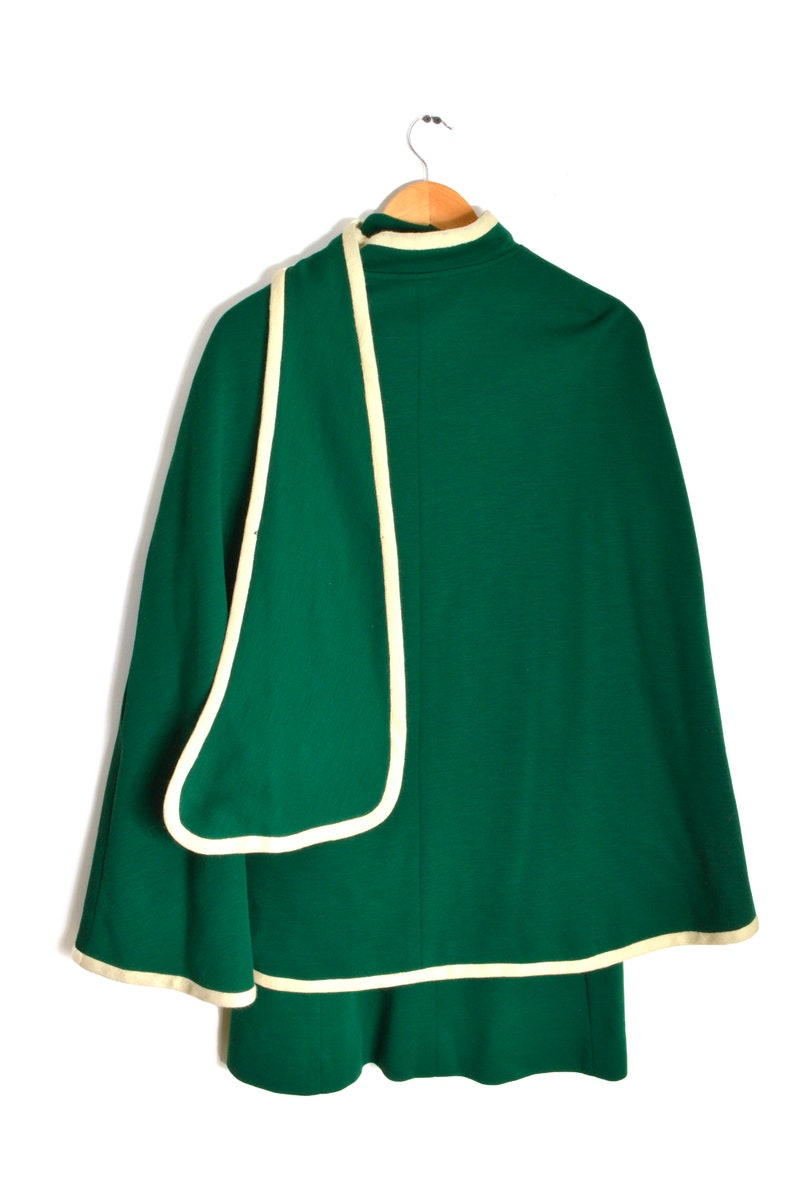 60s Emerald Dress and Cape Women/'s 9 Mod Fashion New York Debbi Dobson